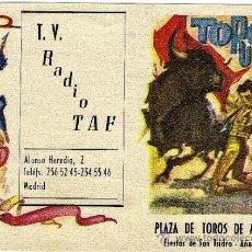Tauromaquia: PROGRAMA CORRIDAS FERIA DE SAN ISIDRO, MADRID 1965. Lote 30954611