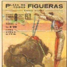 Tauromaquia: TAUROMAQUIA. 1971. PROGRAMA PLAZA TOROS FIGUERAS. 4ª. 2 PGS.. Lote 31101386