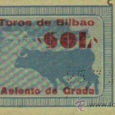Tauromaquia: TAUROMAQUIA. TEMPORADA 1949. ENTRADA PLAZA TOROS BILBAO. SOL. 4ª. 1 PGS.. Lote 31103893
