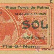 Tauromaquia: TAUROMAQUIA. TEMPORADA 1949. ENTRADA PLAZA TOROS PALMA. SOL. 4ª. 1 PGS.. Lote 31103917
