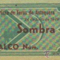 Tauromaquia: TAUROMAQUIA. TEMPORADA 1949. ENTRADA PLAZA TOROS ANTEQUERA. SOMBRA. 4ª. 1 PGS.. Lote 31103982