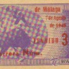 Tauromaquia: TAUROMAQUIA. TEMPORADA 1949. ENTRADA PLAZA TOROS MALAGA. SOL Y SOMBRA. 4ª. 1 PGS.. Lote 31103992