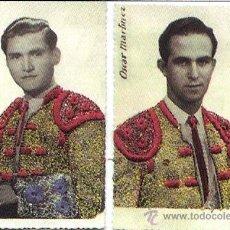 Tauromaquia: 1950.- PAR DE T.POSTALES DE TOREROS EN RELIEVE CON TALEGUILLAS BORDADOS EN GRANATE Y ORO.RARAS.. Lote 31198948