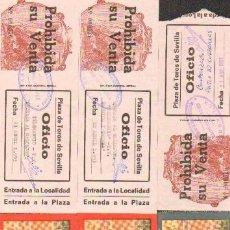 Tauromaquia: TAUROMAQUIA. TEMPORADAS 1966, 1993. LOTE ENTRADAS PLAZA TOROS SEVILLA. 4ª. 6 ITEMS. Lote 31354089