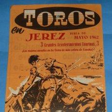Tauromaquia: CARTEL DE TOROS. PLAZA DE JEREZ DE LA FRA. FERIA DE MAYO 1962.. Lote 31376850