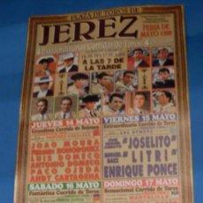 Tauromaquia: CARTEL DE TOROS. PLAZA DE JEREZ FRA. FERIA DE MAYO 1998.. Lote 31574323