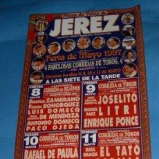 Tauromaquia: CARTEL DE TOROS. PLAZA DE JEREZ FRA. FERIA DE MAYO 1997.. Lote 31625536