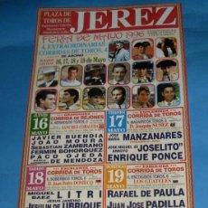 Tauromaquia: CARTEL DE TOROS. PLAZA DE JEREZ DE LA FRA. FERIA DE MAYO 1996.. Lote 31625654