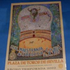 Tauromaquia: CARTEL DE TOROS. PLAZA DE LA MAESTRANZA. ABONO TEMPORADA 2002.. Lote 31664051