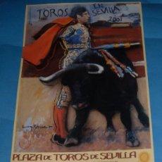 Tauromaquia: CARTEL DE TOROS. PLAZA DE LA MAESTRANZA. ABONO TEMPORADA 2001.. Lote 31664059