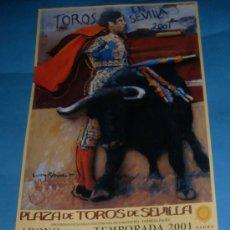 Tauromaquia: CARTEL DE TOROS. PLAZA DE LA MAESTRANZA. ABONO TEMPORADA 2001.. Lote 31664073