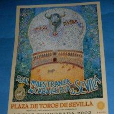 Tauromaquia: CARTEL DE TOROS. PLAZA DE LA MAESTRANZA. ABONO TEMPORADA 2002.. Lote 31664169