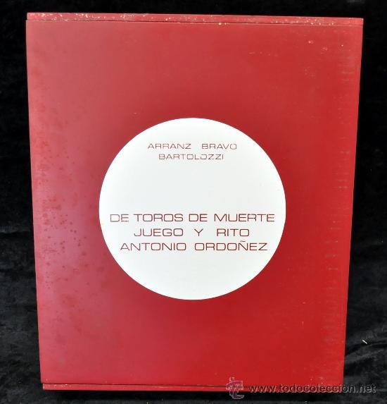 Tauromaquia: DE TOROS DE MUERTO, JUEGO Y RITO. ANTONIO ORDOÑEZ. EDICIÓN DE LUJO. Nº 70 DE 100 EJEMPLARES - Foto 25 - 32300605