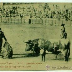 Tauromaquia: POSTAL CORRIDA DE TOROS Nº 17 ENTRANDO A MATAR COLECCIÓN 20 VISTAS LITO ESCLUSE SIN CIRCULAR. Lote 32607622