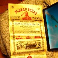 Tauromaquia: CARTEL TAURINO SEDA. Lote 32620328