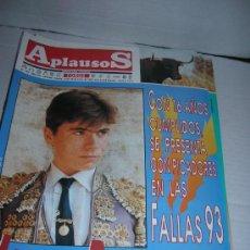 Tauromaquia: Nº 799. SEMANARIO TAURINO APLAUSOS. 18-01-1993. PEPE MURUBE. PEDRITO DE PORTUGAL. FINITO DE CORDOBA.. Lote 32639053