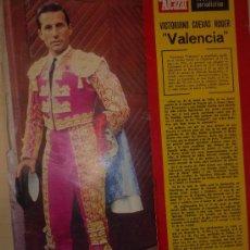 Tauromaquia: LAMINA DEL DIARIO EL ALCAZAR. 1967. VICTORIANO VALENCIA. Lote 32647597