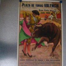 Tauromaquia: CARTEL PLAZA TOROSVALENCIA,1986.PONCE,LITRI,CAMINO,SORO,CAPEA,JOSELITO,MANZANARES. Lote 32882348