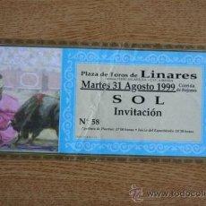 Tauromaquia: ENTRADA DE TOROS. PLAZA DE TOROS DE LINARES. 31 DE AGOSTO DE 1999.. Lote 33217212