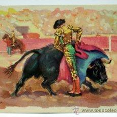 Tauromaquia: POSTAL CORRIDA TOROS TUSER MEDIA VERÓNICA SERIE T Nº 2 ARCHIVO DE ARTE AÑOS 40 SIN CIRCULAR. Lote 33221083