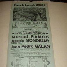 Tauromaquia: CARTEL DE TOROS. PLAZA DE SEVILLA. 1984. RAMOS, MONDEJAR, GALAN. . Lote 33803570