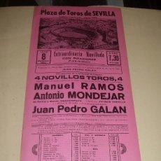 Tauromaquia: CARTEL DE TOROS. PLAZA DE SEVILLA. 1984. RAMOS, MONDEJAR, GALAN. . Lote 33803573
