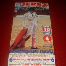 Tauromaquia: CARTEL DE TOROS. PLAZA DE JEREZ. 1994. JESULIN DE UBRIQUE. . Lote 34118219