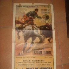 Tauromaquia: CARTEL DE TOROS. PLAZA DE TOROS MONUMENTAL. 1964. PEREZ DE MENDOZA, SALAZAR, MANOLO GALLARDO. . Lote 34120920
