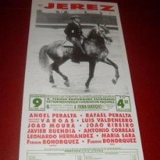 Tauromaquia: CARTEL DE TOROS. PLAZA DE JEREZ. 1993. PERALTA, VARGAS, VALDENEBRO, MOURA, RIBEIRO, BUENDIA, CORREAS. Lote 34176730