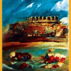 Tauromaquia: DE SANTIAGO, ROSENDO.- (C. REAL 1936-2013) -PLAZA Y CLAVELES- OLEO SOBRE LIENZO. FDO. 66 X 82 C. Lote 34550548