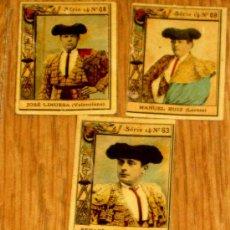 Tauromaquia: LOTE DE 5 FRONTALES CAJAS CERILLAS TOREROS AÑO 1900. Lote 35291331
