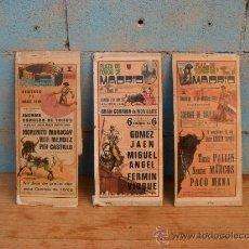 Tauromaquia: LOTE 3 CARTELES TOROS MADRID,AÑO 1984,MARACAY,CASTILLO,MENA,MARCOS,CARTEL TORO. Lote 35454783