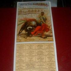 Tauromaquia: CARTEL DE TOROS. PLAZA SEVILLA. 1987. ROMERO, VARGAS, DURAN... GANADERIAS BARRAL, TORREALTA, GAGO.... Lote 255960165