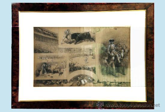 CHAVEZ Y ORTIZ, JOSE (1839-1903) -LA LIDIA Y EL TRIUNFO- FECHA 19/12/1897. DIBUJO A LAPIZ Y CLARION (Coleccionismo - Tauromaquia)