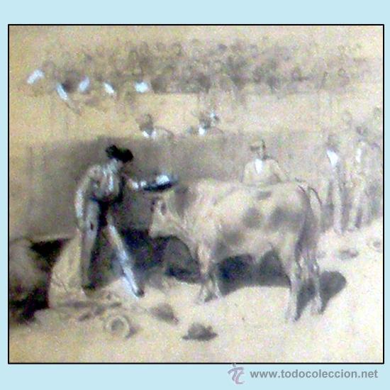 Tauromaquia: CHAVEZ Y ORTIZ, JOSE (1839-1903) -LA LIDIA Y EL TRIUNFO- FECHA 19/12/1897. DIBUJO A LAPIZ Y CLARION - Foto 3 - 35607188