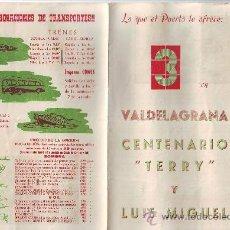 Tauromaquia: PUERTO SANTA MARIA. VALDELAGRANA . PROGRAMA TAURINO. Lote 35656905