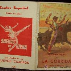 Tauromaquia: PROGRAMA OFICIAL DE LA CORRIDA - LIT ORTEGA . Lote 35683053