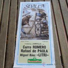 Tauromaquia: CARTEL DE TOROS PLAZA DE TOROS DE SEVILLA FERIA DE ABRIL 1989 DIA 10. Lote 35911052