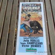 Tauromaquia: CARTEL DE TOROS PLAZA DE TOROS DE SEVILLA FERIA DE ABRIL 1989 DIA 13. Lote 35911324