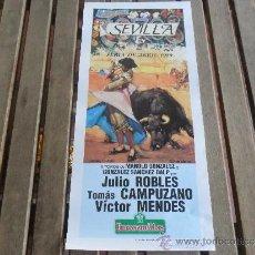 Tauromaquia: CARTEL DE TOROS PLAZA DE TOROS DE SEVILLA FERIA DE ABRIL 1989 DIA 13. Lote 35911548