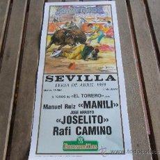 Tauromaquia: CARTEL DE TOROS PLAZA DE TOROS DE SEVILLA FERIA DE ABRIL 1989 DIA 11. Lote 35911648