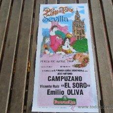 Tauromaquia: CARTEL DE TOROS PLAZA DE TOROS DE SEVILLA FERIA DE ABRIL 1989 DIA 17. Lote 35912111