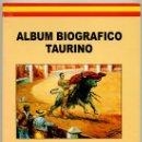 Tauromaquia: LIBRO TAUROMAQUIA - ALBUM BIOGRAFICO TAURINO. Lote 35935942