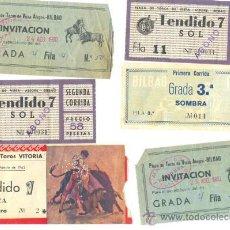 Tauromaquia: 5 ENTRADA DE TOROS DE BILBAO .. 1954 – 1960 – 1962 Y 2 SIN AÑO .. DEDICATORIA Y AUTÓGRAFO . Lote 36056944