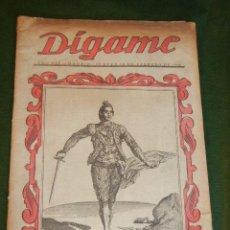 Tauromaquia: SEMANARIO DIGAME - EXTRAORDINARIO DE TOROS, 20 FEBRERO 1946. Lote 36075651