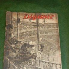 Tauromaquia: SEMANARIO DIGAME - EXTRAORDINARIO DE TOROS, 9 MAYO 1947. Lote 36075739