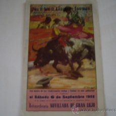 Tauromaquia: PROGRAMA TOROS ALCAZAR DE SAN JUAN 1952. Lote 36798407