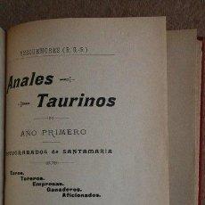 Tauromaquia: ANALES TAURINOS. AÑO PRIMERO, 1900. TOROS, TOREROS, EMPRESAS, GANADEROS, AFICIONADOS.. Lote 36906575