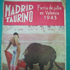 Tauromaquia: REVISTA DE TOROS MADRID TAURINO. MANOLETE. Lote 36921035
