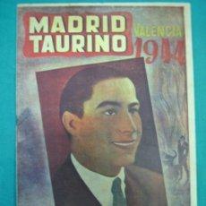 Tauromaquia: REVISTA DE TOROS MADRID TAURINO. VALENCIA III. Lote 36936348